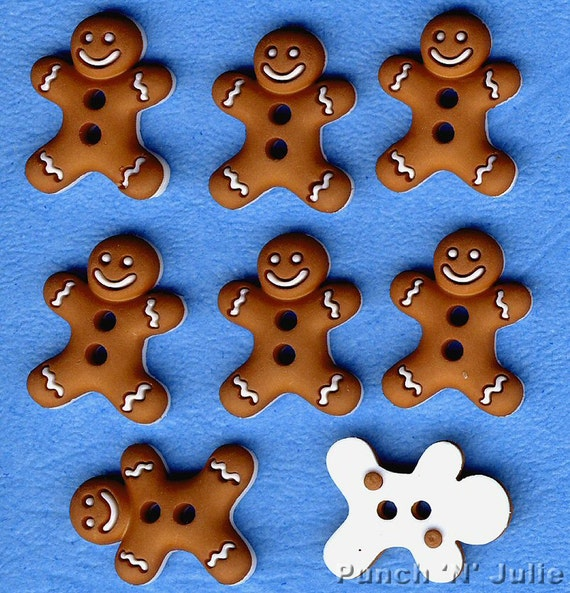 GINGERBREAD GIRLS Christmas Bake Baking Cookie Biscuit Dress It Up Craft Buttons