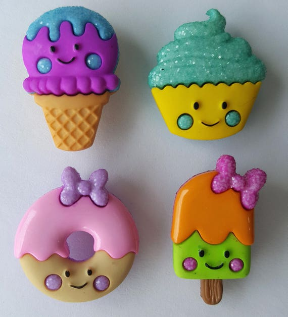 Cupcake ~ Ice Cream ~ Donut So Sweet Dress It Up Buttons Jesse James