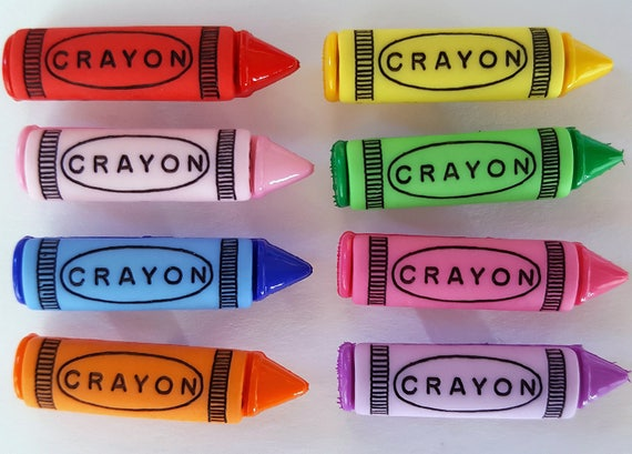 Crayon Boutons-Dress It Up Bright KIDS Crayons-Scrapbooking Craft