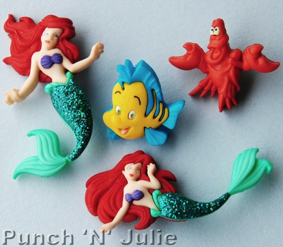 the little mermaid disney ariel sebastian flounder fish etsy