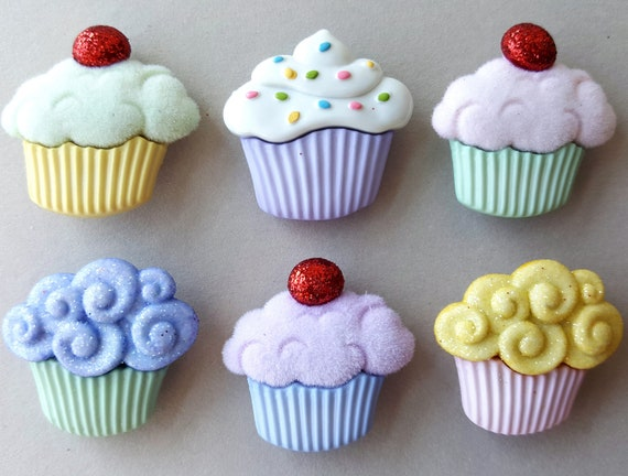 Big 3D Craft Buttons Cake Strawberry Chocolate Cupcake Wuttons YUMMY SWEETS