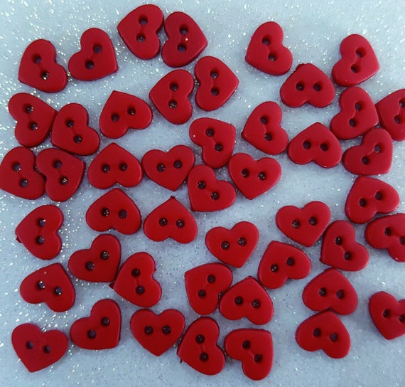 HOT PINK SHAPES MICRO MINI Hearts Stars Round Dress It Up Craft Buttons