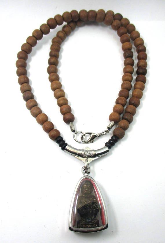 Sjælden Special Power thailandske Blessed Gammel Træ Prayer Beads-4505