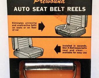 Classic Car Seat Belt Auto Reels, NEW / old stock 60s
