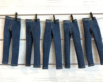 Skinny Jeans for Blythe Doll - Tailored Dark Wash