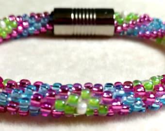 Kumihimo, PATTERN, 4 color Diamond, Bracelet, PDF Download, Kumihimo Pattern