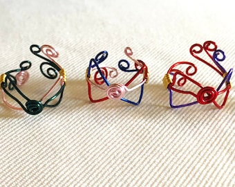 Sailor Moon Inspired Adjustable Wire Rings
