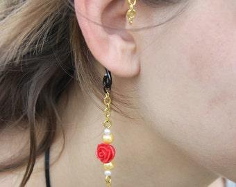 Princess Belle-Inspired Disney-themed Ear Cuff