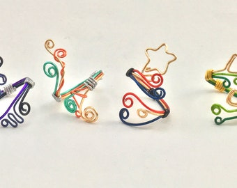 Steven Universe Inspired Adjustable Wire Rings