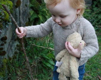 KNITTING PATTERN // Child's Classic Raglan Pullover // top down worsted sweater -- PDF