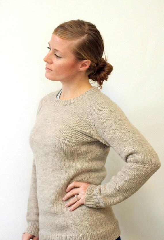 Knitting Pattern Ladies Classic Raglan Pullover Top Down Etsy