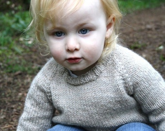 KNITTING PATTERN — Top down worsted sweater / Child's Classic Raglan Pullover — PDF