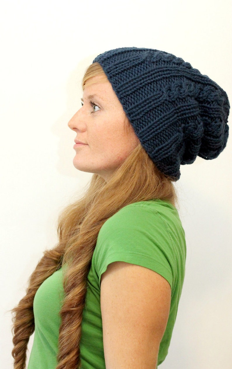 KNITTING PATTERN Easy cable rib chunky toque / Elizabeth ...