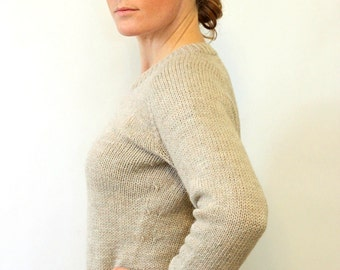 KNITTING PATTERN // Ladies Classic Raglan Pullover // top-down worsted sweater -- PDF