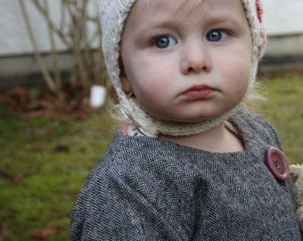 KNITTING PATTERN hat baby toddler newborn toque earflap PDF / Amelia Hat