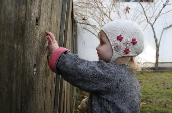 cf11f28ceda KNITTING PATTERN    Amelia    kids baby earflap hat with