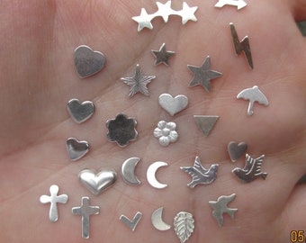 Sterling Silver  Solderable Accents, 24g - You choose which ones