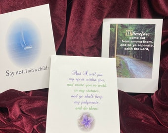 Individual Christian Encouragement Note Cards, choose Christian Greeting Cards from Set #3, envelope, KJV Scripture, God Really Loves You