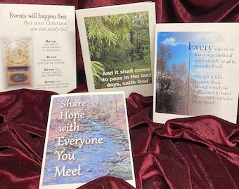 Individual Christian Encouragement Note Cards, choose Christian Greeting Cards from Set #2, envelope, KJV Scripture, God Really Loves You