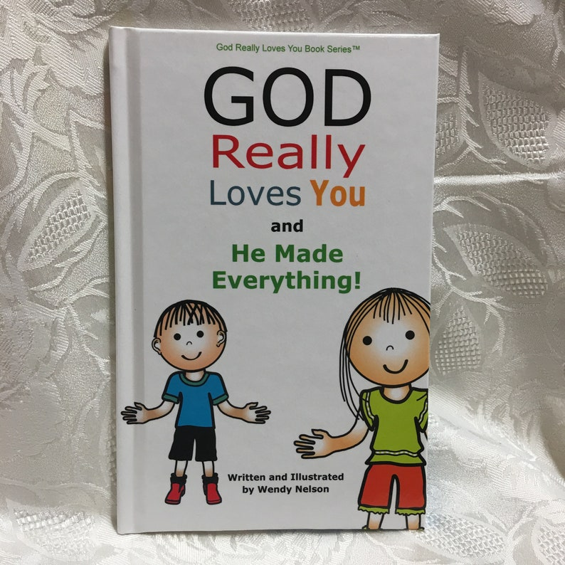 Colorful Christian Children's Book God Really Loves You image 0