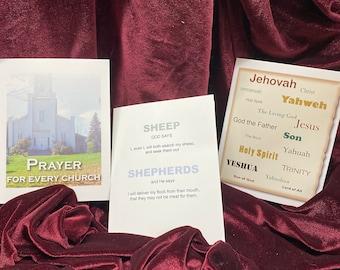 Individual Christian Encouragement Note Cards, choose Christian Greeting Cards from Set #4, envelope, KJV Scripture, God Really Loves You