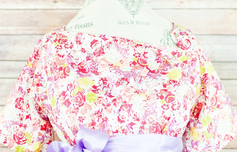 Maternity Hospital Delivery Gown  Snaps for Breastfeeding image 0