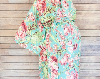 Jolie Maternity Kimono Labor and Delivery Robe - Add a Delivery Gown for a Perfect Hospital Set- Perfect for Skin to Skin Breastfeeding