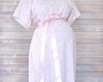 Mom and Baby Set - Sizes XS & S - Light Pink Damask