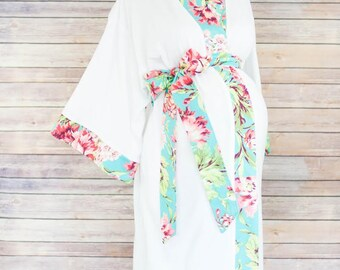 Jolie Maternity Kimono Robe - Super Soft Microfleece - Add a Labor and Delivery Gown to Match for a beautiful hospital set