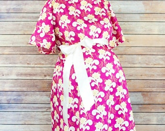 Gina Maternity Hospital Delivery Gown - Ready for the hospital with Snaps for Breastfeeding