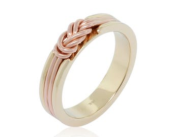 Climbing Knot Ring Gift for Him - Celtic Knot Gold Ring - Promise Ring for Him - Infinity Ring - Eternity Ring