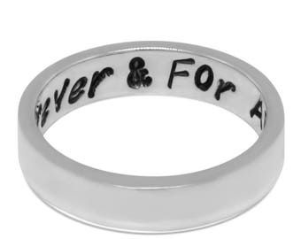 Sterling Silver Secret Message Inspirational Ring - Message Ring Personalized Jewelry - Name Ring Mothers Day Gift