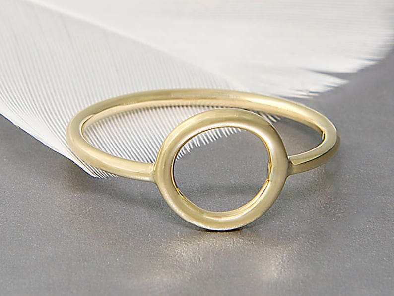 1eb0e01ec55e8 Gold Open Circle Ring - Solid Gold Ring - Karma Ring - Open Ring - Infinity  Ring - Eternity Ring - Dainty Ring - Delicate Ring