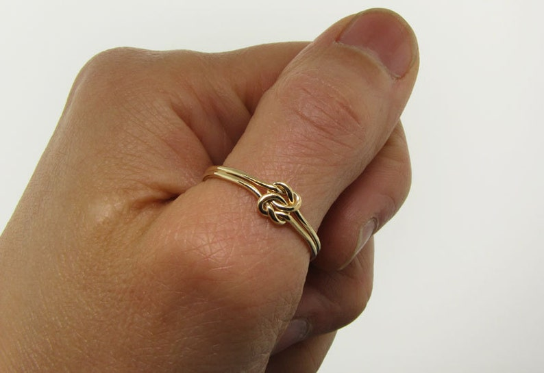 Delicate Ring Love Knot Ring Silver Thumb Ring Gold Engagement Ring Promise Ring for Her Anniversary Gift