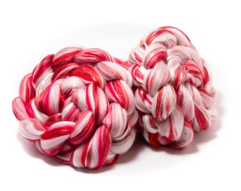 Merino Wool / Silk (4oz)   Combed Top / Roving for Spinning and Felting