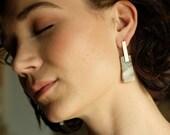 Stone Slab Earrings Polka Dot Agate Cady Cap Agate