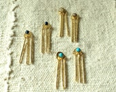 Pod Earrings- Sterling Silver Gold fill turquoise hinge chime earrings