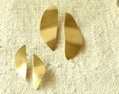 Petal Earrings Sterling or Gold finish Large Small Statement Taxco Modernist