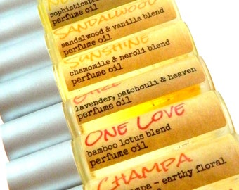 Perfume Oil Roll On  / Choose your natural fragrance  / Mens cologne - Womens perfume Christmas Gift for her