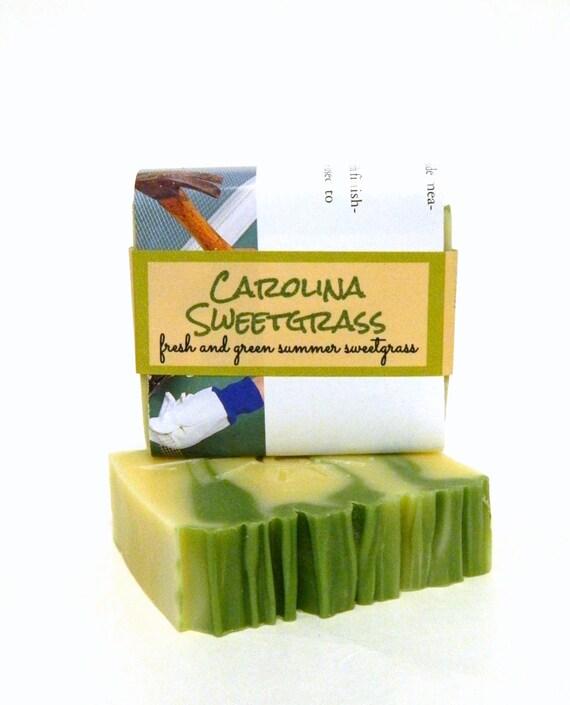 Homemade Soap / CAROLINA SWEET GRASS  Handmade Soap - Cold Process Soaps - Bath and Body Soaps