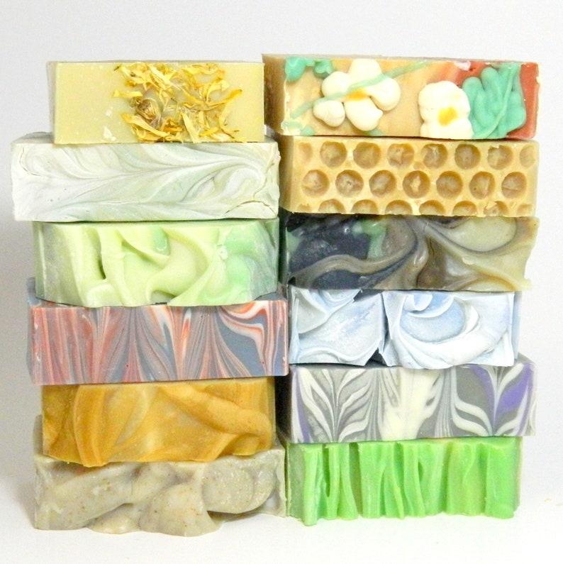 Wholesale Soaps / Bulk Homemade Soap / 9 Bar Cold Process Soap Sampler /  Spa Gift Set