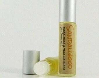 Sandalwood Perfume Oil / Mens Fragrance Oil  Roll On / Glass Roll on Bottle