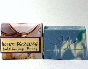 Inlet Breeze Scented Cold Process Soap / Fresh and Clean Scent