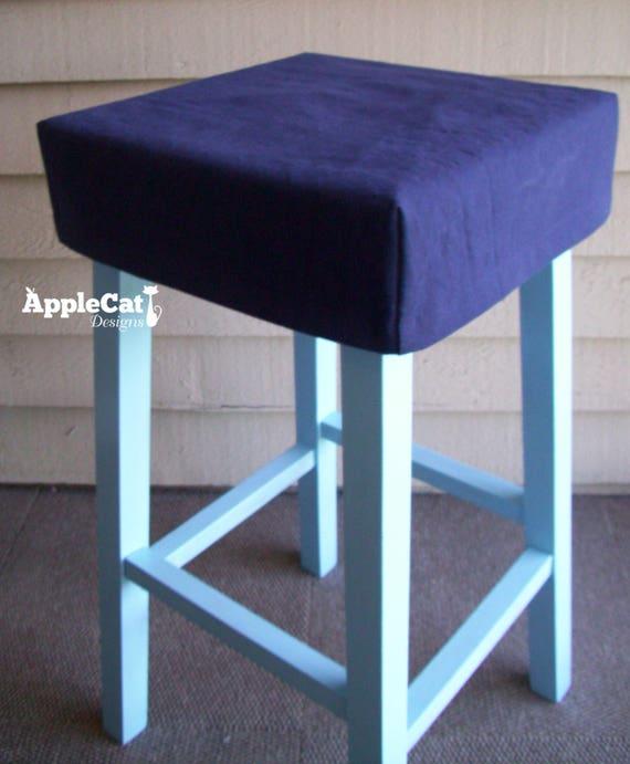 square bar tabouret housse housse de tabouret de bar coin etsy. Black Bedroom Furniture Sets. Home Design Ideas