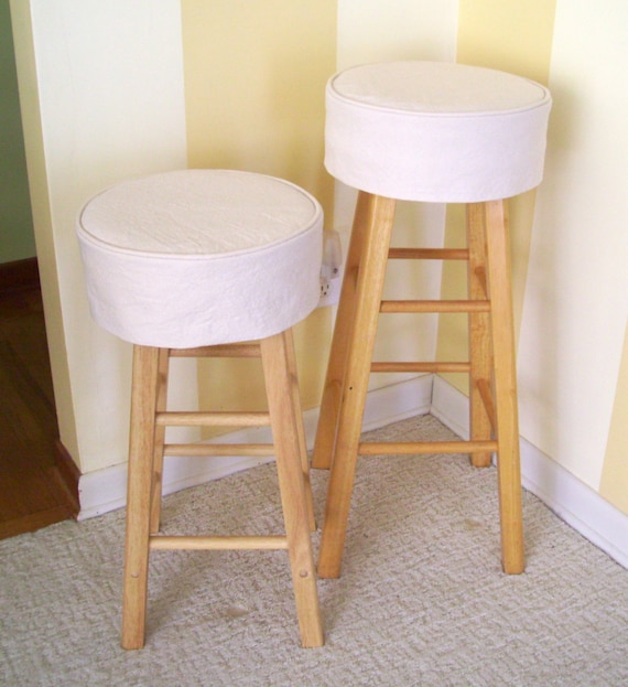 Terrific Round Bar Stool Slipcover Round Barstool Cover Barstool Slipcover With Welt Cord Uwap Interior Chair Design Uwaporg
