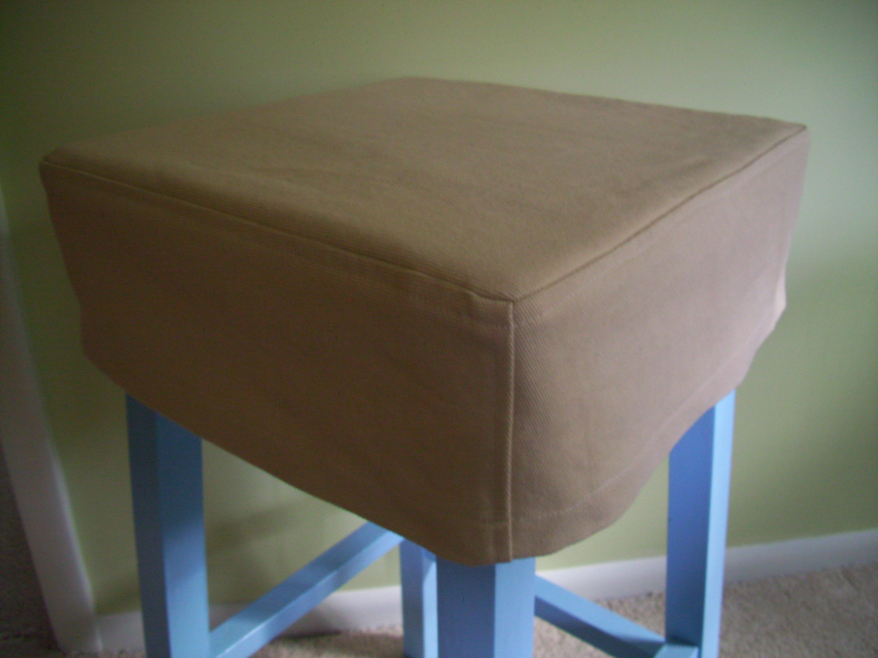 Stock 14 Inch Square Top Stitched Bar Stool Cover Etsy