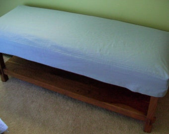 Bench Slipcover, Top stitched Bench Cover,  Ottoman Cover, Canvas Slipcover