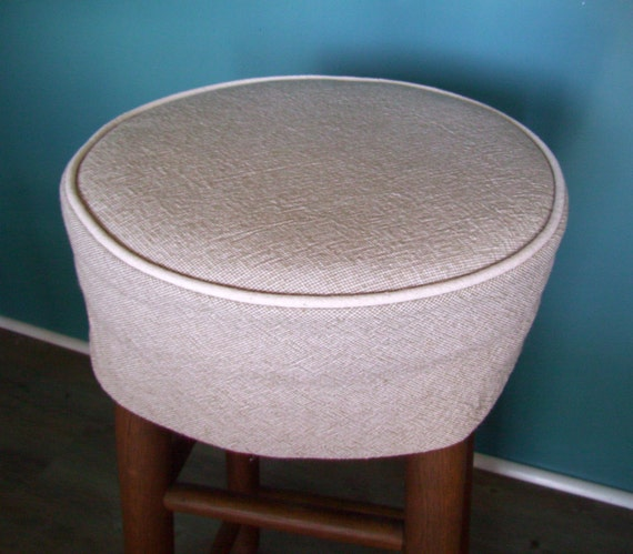 Stock 13 Inch Round Barstool Slipcover With Cushion Bar Stool Etsy