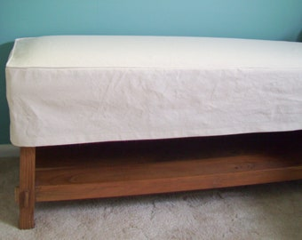 Bench Slipcover, Bench Cover with welt cord, Bench or Ottoman Slipcover