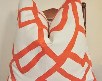 Mélanger les Orange oreiller, oreiller géométrique, taie d'oreiller, coussin décoratif, coussin, oreiller, ameublement de maison, décoration d'intérieur, Made in USA